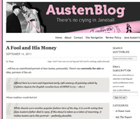 Screenshot: AustenBlog website