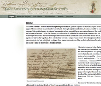 Screenshot: Jane Austen's Fiction Manuscripts website
