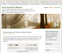 Screenshot: Jane Austen's World website