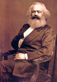 Photo portrait of Karl Marx in 1875.