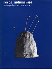 Cover: Res: Anthropology and Aesthetics, 28: Autumn 1995