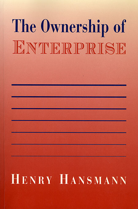 Cover: The Ownership of Enterprise, from Harvard University Press