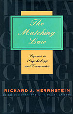 Cover: The Matching Law: Papers in Psychology and Economics