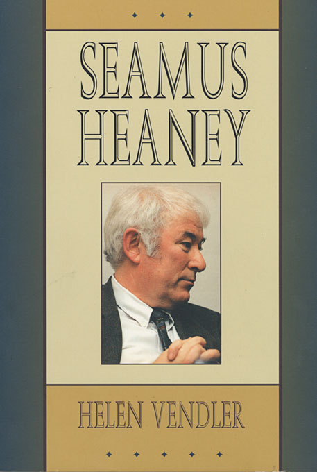Cover: Seamus Heaney, from Harvard University Press