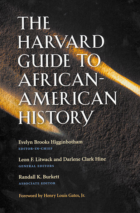 Cover: The Harvard Guide to African-American History: Foreword by Henry Louis Gates, Jr., from Harvard University Press