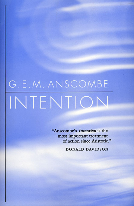 Cover: Intention, from Harvard University Press