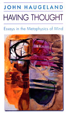 Cover: Having Thought: Essays in the Metaphysics of Mind