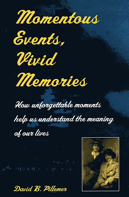 Cover: Momentous Events, Vivid Memories, from Harvard University Press