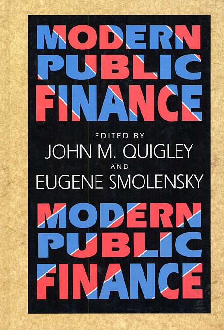 Cover: Modern Public Finance, from Harvard University Press