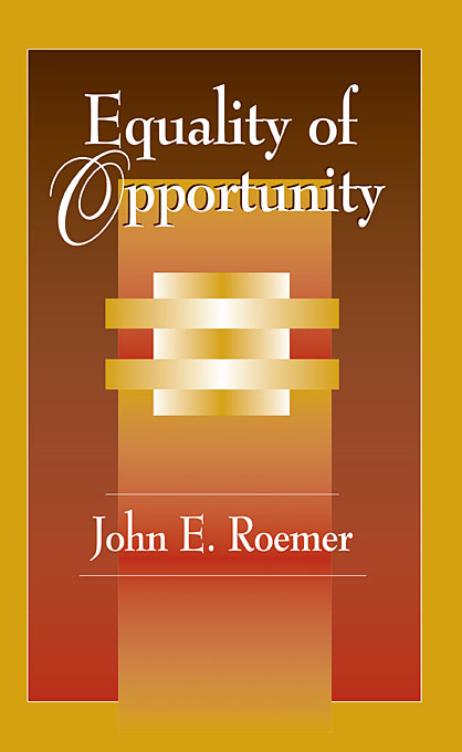 Cover: Equality of Opportunity, from Harvard University Press