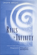 Cover: Rails to Infinity: Essays on Themes from Wittgenstein's <i>Philosophical Investigations</i>