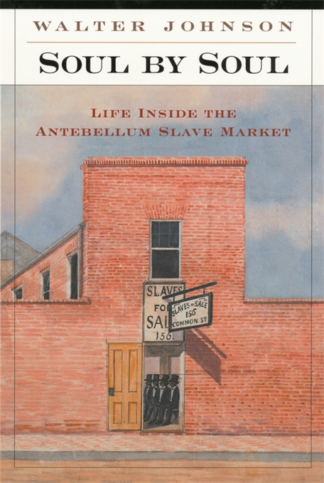 Cover: Soul by Soul: Life Inside the Antebellum Slave Market, by Walter Johnson, from Harvard University Press