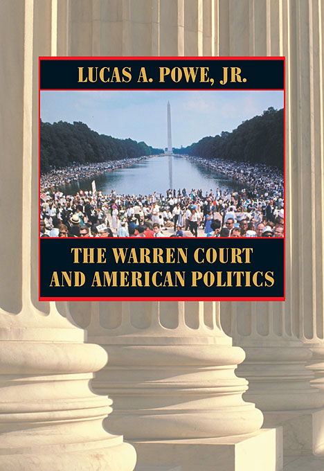 Cover: The Warren Court and American Politics, from Harvard University Press