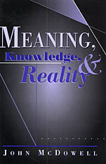 Cover: Meaning, Knowledge, and Reality