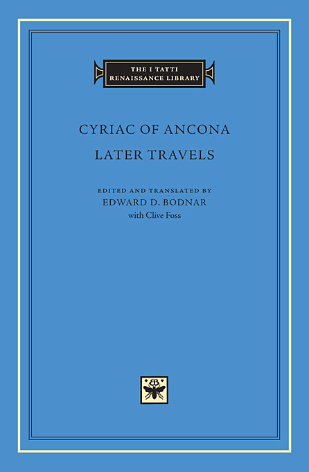 Cover: Later Travels, from Harvard University Press