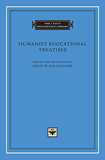 Cover: Humanist Educational Treatises in HARDCOVER