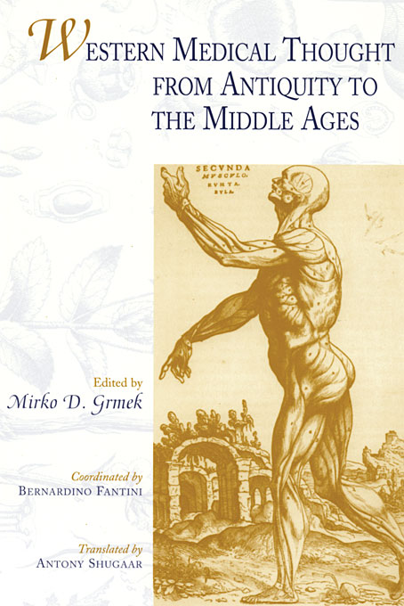 Cover: Western Medical Thought from Antiquity to the Middle Ages, from Harvard University Press