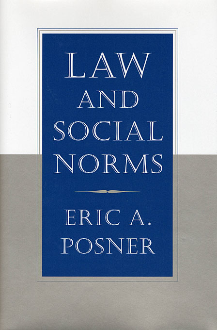 Cover: Law and Social Norms, from Harvard University Press
