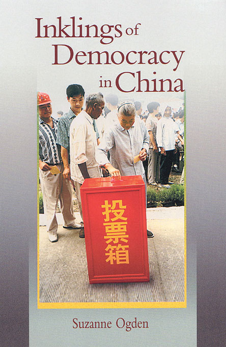 Cover: Inklings of Democracy in China, from Harvard University Press