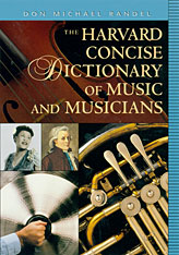 Cover: The Harvard Concise Dictionary of Music and Musicians