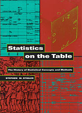 Cover: Statistics on the Table: The History of Statistical Concepts and Methods