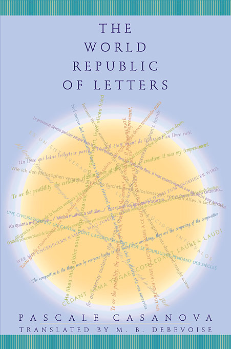Cover: The World Republic of Letters, from Harvard University Press