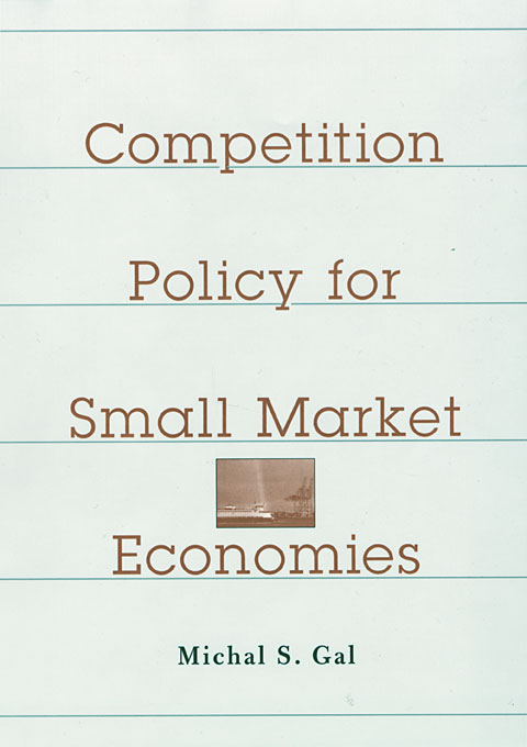 Cover: Competition Policy for Small Market Economies, from Harvard University Press