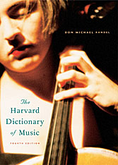 Cover: The Harvard Dictionary of Music in HARDCOVER