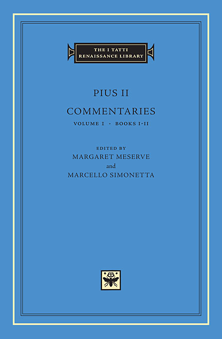 Cover: Commentaries, Volume 1: Books I-II, from Harvard University Press