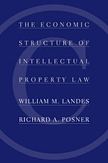 Cover: The Economic Structure of Intellectual Property Law in HARDCOVER