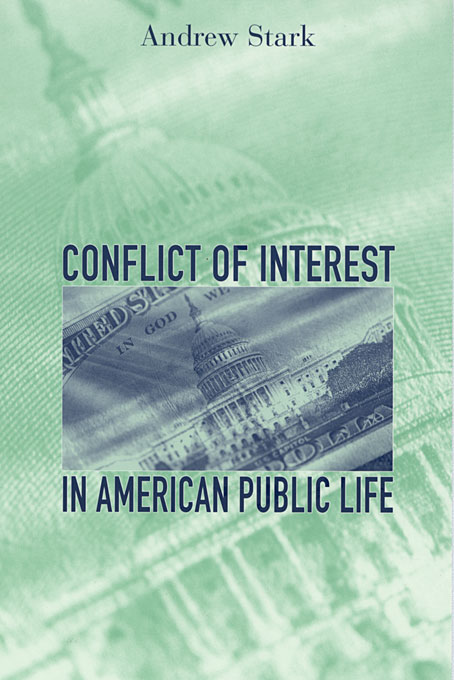 Cover: Conflict of Interest in American Public Life, from Harvard University Press