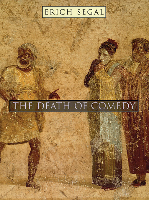 Cover: The Death of Comedy, from Harvard University Press