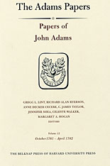 Cover: Papers of John Adams, Volume 12: October 1781 – April 1782