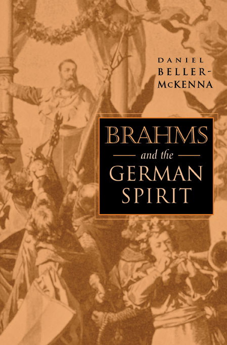 Cover: Brahms and the German Spirit, from Harvard University Press