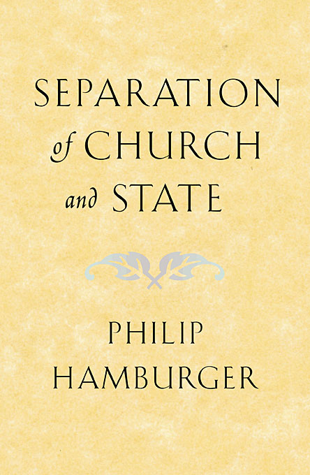 Cover: Separation of Church and State, from Harvard University Press
