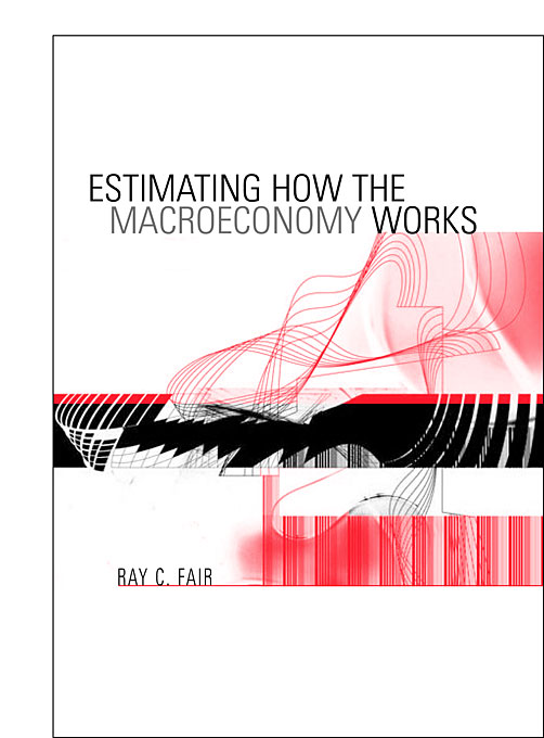 Cover: Estimating How the Macroeconomy Works, from Harvard University Press