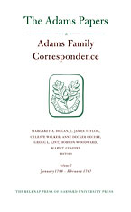 Cover: Adams Family Correspondence, Volume 7: January 1786 – February 1787