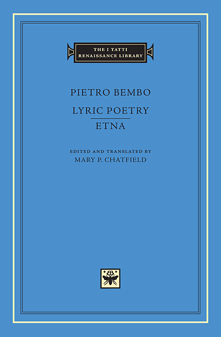 Cover: Lyric Poetry. Etna, from Harvard University Press