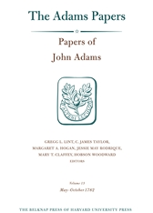 Cover: Papers of John Adams, Volume 13: May–October 1782