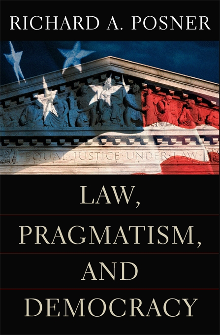 Cover: Law, Pragmatism, and Democracy, from Harvard University Press