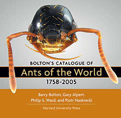 Cover: Bolton's Catalogue of Ants of the World: 1758-2005