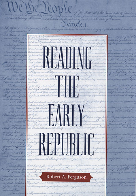 Cover: Reading the Early Republic, from Harvard University Press