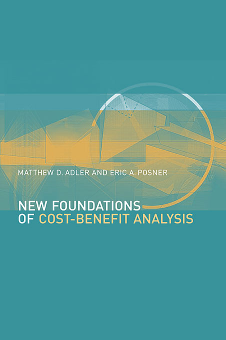Cover: New Foundations of Cost-Benefit Analysis, from Harvard University Press