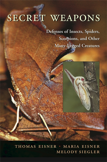 Cover: Secret Weapons: Defenses of Insects, Spiders, Scorpions, and Other Many-Legged Creatures, from Harvard University Press