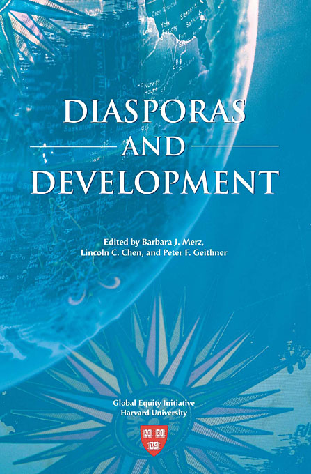 Cover: Diasporas and Development, from Harvard University Press