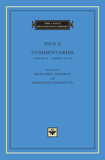 Cover: Commentaries, Volume 2: Books III-IV, from Harvard University Press