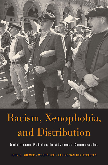 Cover: Racism, Xenophobia, and Distribution: Multi-Issue Politics in Advanced Democracies, from Harvard University Press
