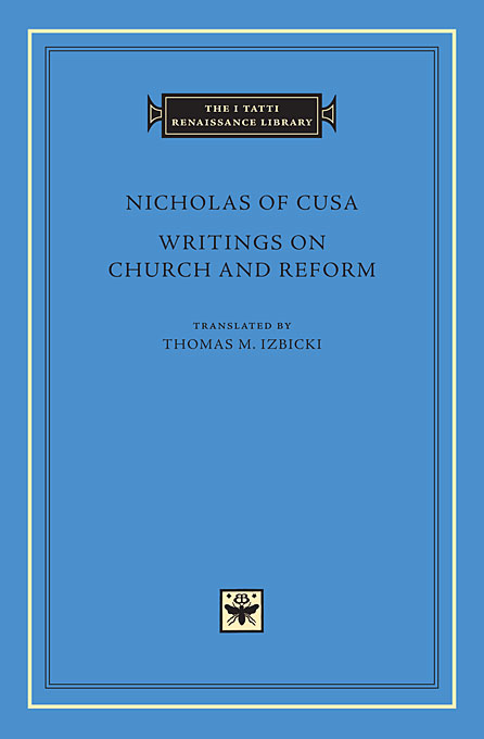 Cover: Writings on Church and Reform, from Harvard University Press