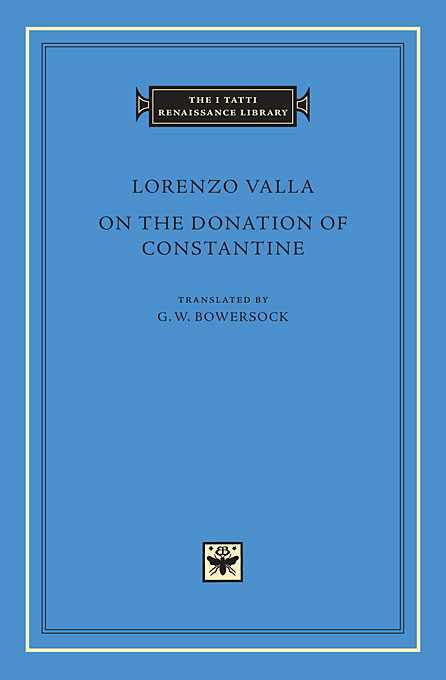 Cover: On the Donation of Constantine, from Harvard University Press