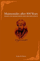 Cover: Maimonides after 800 Years in HARDCOVER